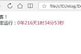 使用JavaScript为网站显示运行时间代码案列,附代码!