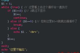 解析PHP跳出循环的方法以及continue、break、exit的区别及介绍