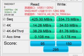 DIY USB3.0 SM2246XT+双贴闪迪15131颗粒256G固态U盘