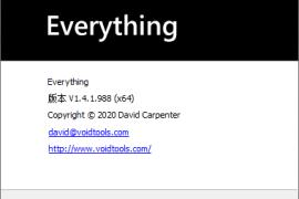 最新版EverythingV1.4.1.999,值得留念的一个版本号